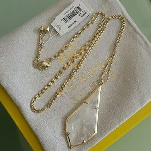 Kendra Scott Damon rock crystal necklace